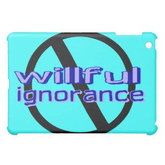 Caso voluntarioso del iPad de la ignorancia de la