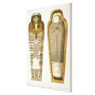 Caso y momia en sus cerements de Gizeh, volumen Impresion De Lienzo
