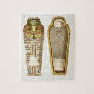 Caso y momia en sus cerements de Gizeh, volumen Puzzles Con Fotos