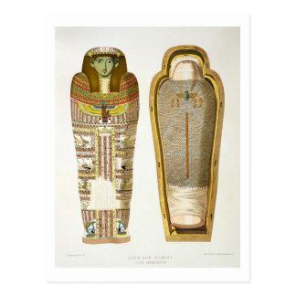 Caso y momia en sus cerements de Gizeh, volumen Tarjeta Postal