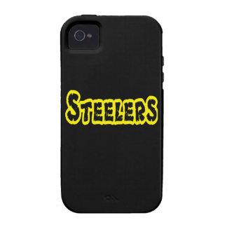 Casos 4 y 4S del iPhone del fútbol de Steelers iPhone 4/4S Fundas