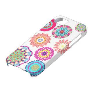 Casos abstractos del iphone del estampado de flore iPhone 5 cárcasas