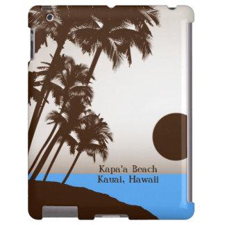 Casos adaptables hawaianos del iPad de la puesta