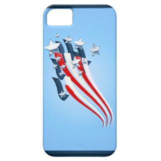 Casos arrebatadores del iPhone de la bandera ameri iPhone 5 Case-Mate Carcasa