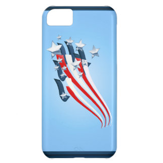 Casos arrebatadores del iPhone de la bandera ameri Funda Para iPhone 5C
