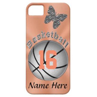 Casos bonitos del baloncesto del iPhone 5S para la iPhone 5 Protector