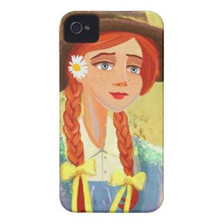 casos bonitos del iPhone 4/4S del chica del dibujo Case-Mate iPhone 4 Funda