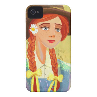 casos bonitos del iPhone 4 4S del chica del dibujo Case-Mate iPhone 4 Funda