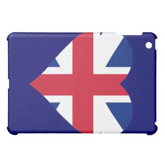 Casos británicos del iPad del corazón de la bander