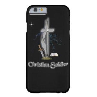 Casos cristianos del soldado funda para iPhone 6 barely there