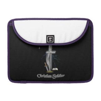 Casos cristianos del soldado fundas para macbooks