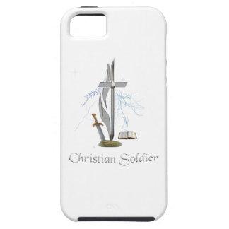 Casos cristianos del soldado iPhone 5 funda