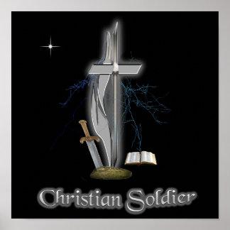 Casos cristianos del soldado póster