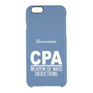 Casos de encargo del color de CPA Funda Clearly™ Deflector Para iPhone 6 De Uncommon