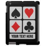 Casos de encargo del iPad del jugador de tarjeta