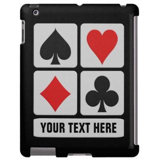 Casos de encargo del iPad del jugador de tarjeta Funda Para iPad
