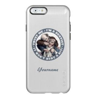 Casos de encargo del monograma del humor del funda para iPhone 6 plus incipio feather shine