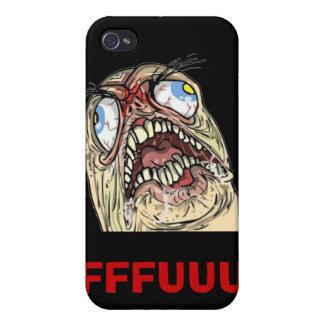 Casos de Iphone de la cara de la rabia de Meme del iPhone 4/4S Funda