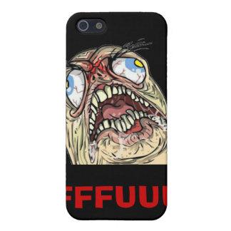 Casos de Iphone de la cara de la rabia de Meme del iPhone 5 Carcasas