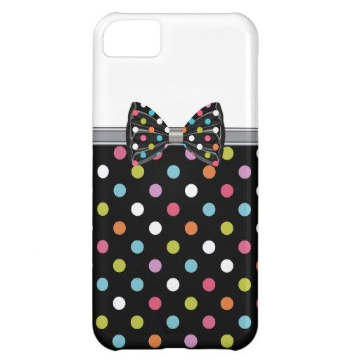 Casos de lujo bonitos del iPhone 5C del arco