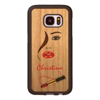 Casos de madera de Carved® Samsung S7 de la cara y