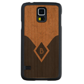 Casos de madera elegantes de Samsung S5 del moreno Funda De Galaxy S5 Slim Cerezo