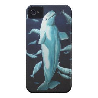 Casos de Smartphone de la ballena del caso de la b Case-Mate iPhone 4 Cobertura