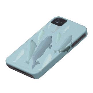 Casos de Smartphone de la ballena del caso de la b iPhone 4 Case-Mate Cárcasas