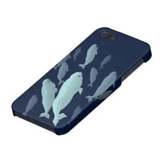 Casos de Smartphone de la ballena del caso de la b iPhone 5 Cárcasa