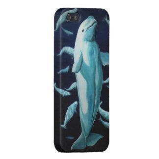 Casos de Smartphone de la ballena del caso de la b iPhone 5 Cárcasas