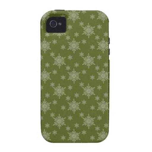 Casos de Smartphone del navidad del copo de nieve  iPhone 4 Carcasa