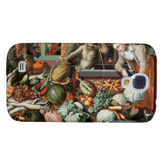 """""""Casos del arte del vintage de la escena del merca Funda Para Samsung Galaxy S4"""