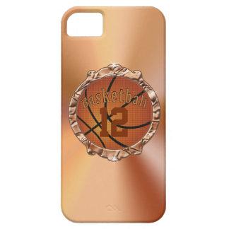 casos del baloncesto del iPhone 5 5S para las muje iPhone 5 Case-Mate Funda