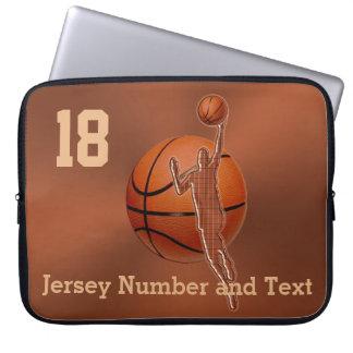 Casos del baloncesto para el ordenador portátil su fundas portátiles