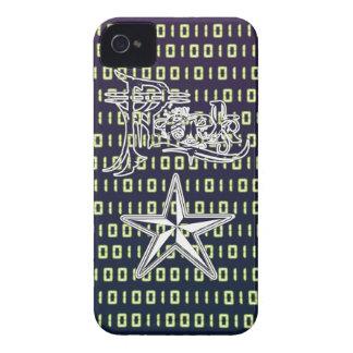 Casos del código binario iPhone4/4S de la estrella iPhone 4 Case-Mate Carcasas