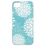 Casos del estampado de flores del trullo iPhone 5 protector