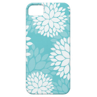 Casos del estampado de flores del trullo iPhone 5 fundas