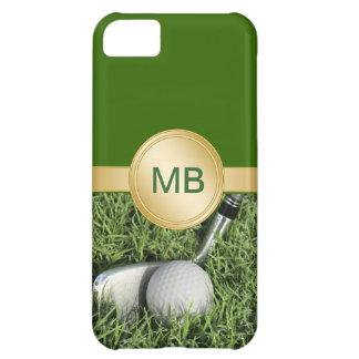 casos del golf del monograma del iPhone 5C