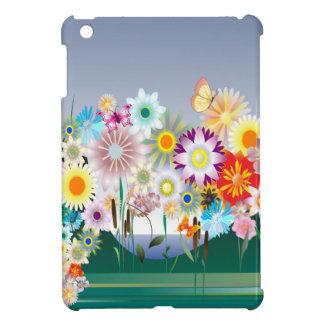Casos del iPad de la decoración 14 de la flor mini