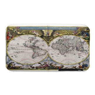 Casos del iPhone 3g/3gs del mapa del mundo del vin iPhone 3 Cobertura