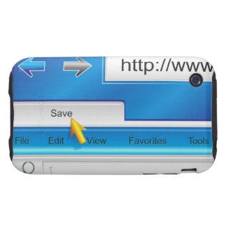 Casos del iPhone 3G 3GS del navegador del Web page iPhone 3 Tough Cobertura