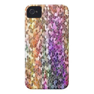 Casos del iPhone 4/4S del mosaico del arco iris Case-Mate iPhone 4 Protectores