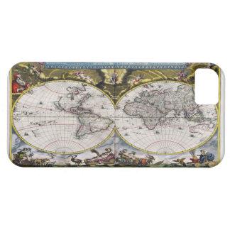Casos del iPhone 5 del mapa del mundo del vintage  iPhone 5 Case-Mate Cobertura
