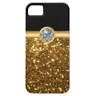 Casos del iPhone 5S de Bling del oro iPhone 5 Case-Mate Cárcasas