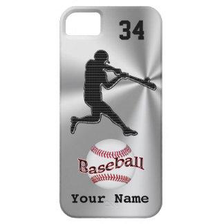 Casos del iPhone 5S del béisbol con SU NOMBRE y iPhone 5 Funda
