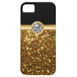 Casos del iPhone 5S del monograma del oro iPhone 5 Case-Mate Cárcasas