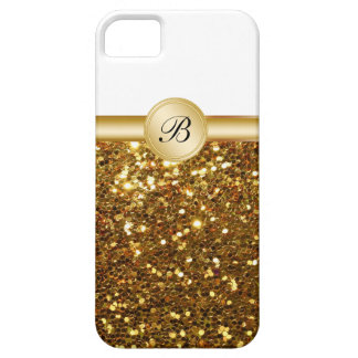 Casos del iPhone 5S del monograma del oro iPhone 5 Cobertura