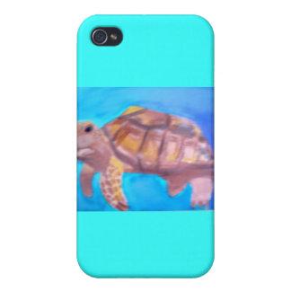 Casos del iPhone de la acuarela de SeaTurtle iPhone 4/4S Carcasa