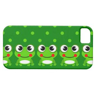 Casos del iPhone lindo de la rana y del lunar iPhone 5 Protector