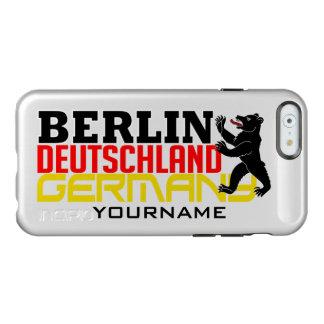 Casos del personalizado de BERLÍN Alemania Funda Para iPhone 6 Plus Incipio Feather Shine